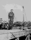 Danny Kaye performs for the troups