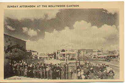 People in front of, 'The Hollywood Canteen'