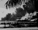 USS Shaw explodes after bombing of Pearl Harbor